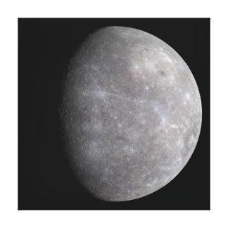 Lienzo Planeta Mercury en espacio