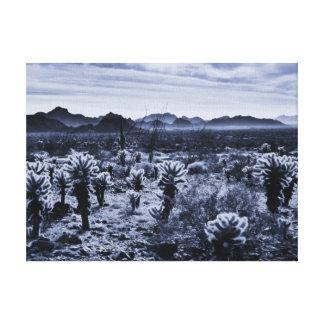 Lienzo Plantas de desierto del cactus de Cholla del oso