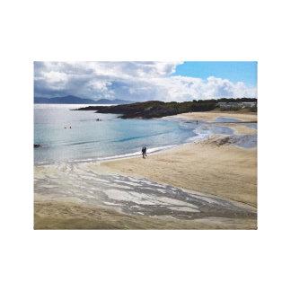 Lienzo Playa bonita con cielo azul; Kerry, Irlanda