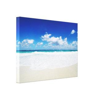 Lienzo Playa de la isla del paraíso