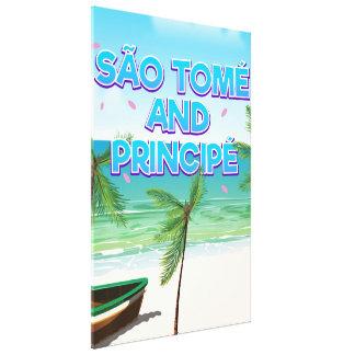 Lienzo Playa de São Tomé y de Principé