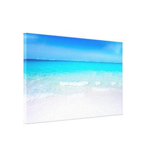 Lienzo Playa tropical con un mar de la turquesa
