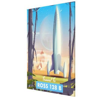 Lienzo Poster de la ciencia ficción de Ross 128 B