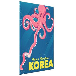 Lienzo Poster de las vacaciones de Corea