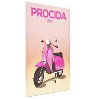 Lienzo Poster de las vacaciones de la vespa de Procida