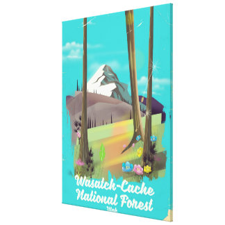 Lienzo Poster de las vacaciones de Utah del bosque del
