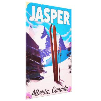 Lienzo Poster del viaje de Alberta Canadá del jaspe