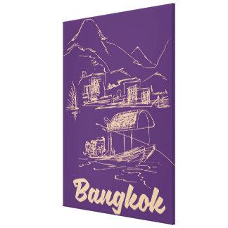 Lienzo Poster del viaje de Bangkok, Tailandia