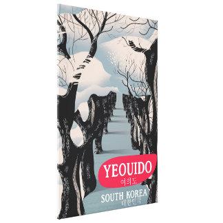 Lienzo Poster del viaje de la Corea del Sur de Yeouido