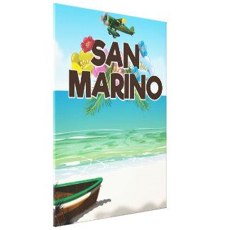 Lienzo Poster del viaje de la playa de San Marino