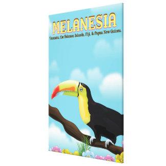 Lienzo Poster del viaje de Melanesia Toucan