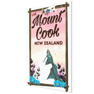 Lienzo Poster del viaje de Nueva Zelanda del cocinero del