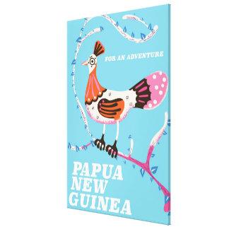 Lienzo Poster del viaje de Papúa Nueva Guinea