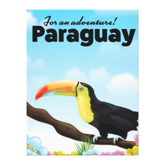 Lienzo Poster del viaje de Paraguay Toucan