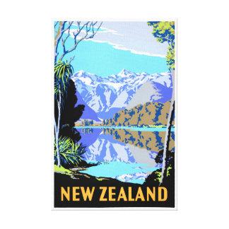 Lienzo Poster del viaje del vintage de Matheson del lago