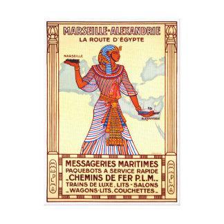 Lienzo Poster restaurado Egipto del viaje del vintage de