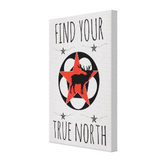Lienzo Poster rojo del norte verdadero de los alces de la