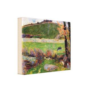 Lienzo Prado en los bancos de Aven de Paul Gauguin
