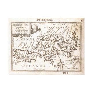 Lienzo Primer mapa individual de las Filipinas. Vendimia