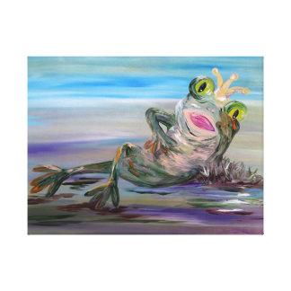 Lienzo Princesa de la rana