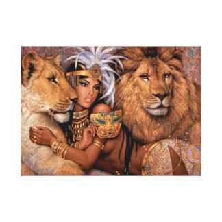 Lienzo Princesa egipcia Canvas Art de la diosa del león