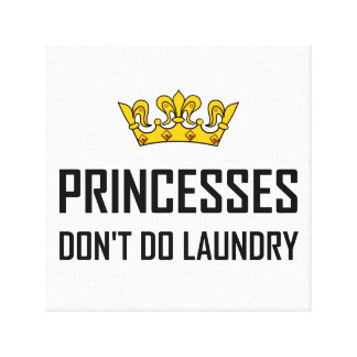Lienzo Princesas Do Not Do Laundry