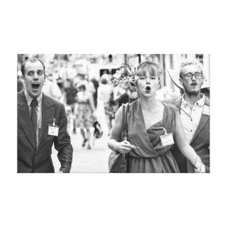 Lienzo Protesta enojada de los ejecutantes de la calle
