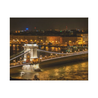 Lienzo Puente de cadena de Budapest