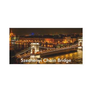 Lienzo Puente de cadena de Szechenyi en Budapest