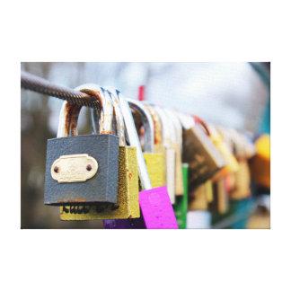 Lienzo Puente de la cerradura del amor