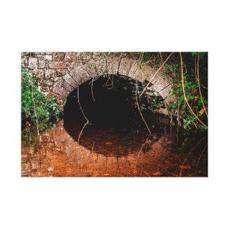 Lienzo Puente viejo ocultado céltico irlandés sobre