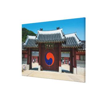 Lienzo Puerta coreana del palacio