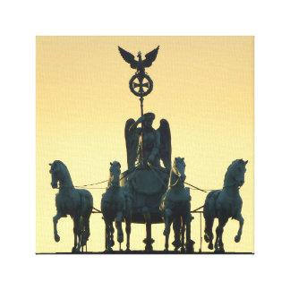 Lienzo Puerta de Brandeburgo de la cuadriga 001, Berlín