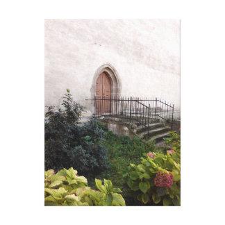 Lienzo Puerta de la iglesia del vintage