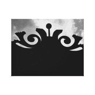 Lienzo Puerta negra nublada