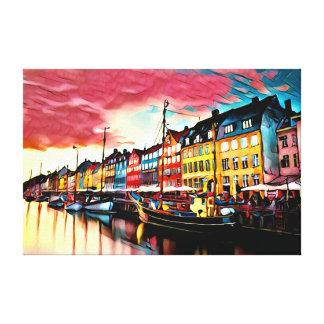 Lienzo Puerto de Copenhague Dinamarca