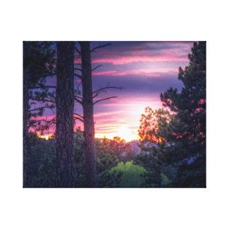 Lienzo Puesta del sol de Dakota del Sur