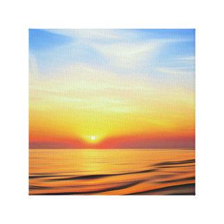 Lienzo Puesta del sol del mar de Irlanda