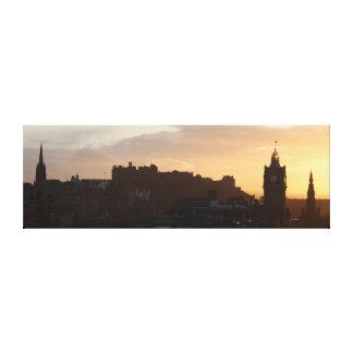 Lienzo Puesta del sol en Edimburgo