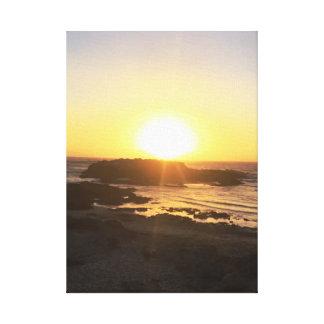 Lienzo Puesta del sol romántica el || Pescadero, CA el ||