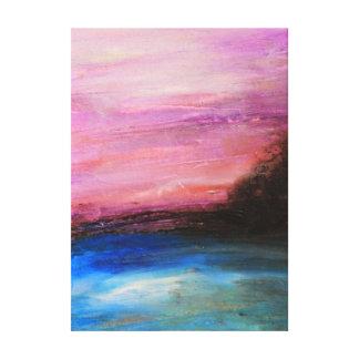 Lienzo Puesta del sol rosada