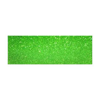 Lienzo Purpurina verde