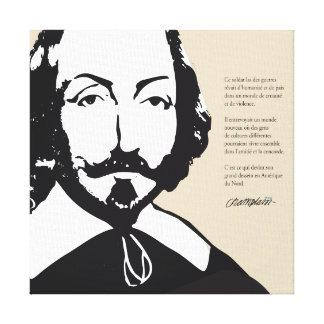 Lienzo Quebec Samuel de Champlain 1608 Cita Francés