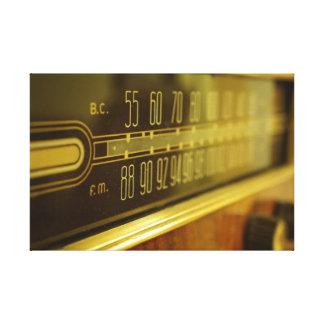 Lienzo Radio del vintage - el resplandor
