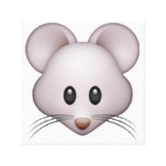 Lienzo Ratón - Emoji