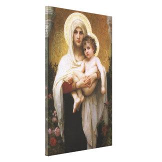 Lienzo Realismo del vintage, Madonna de los rosas,