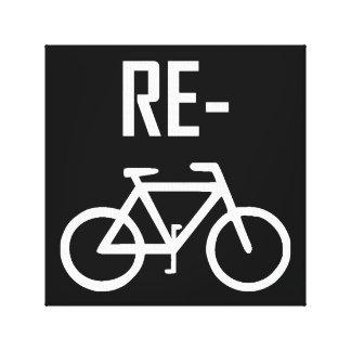 Lienzo Recicle la bici de la bicicleta