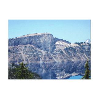 Lienzo Reflexiones del lago crater