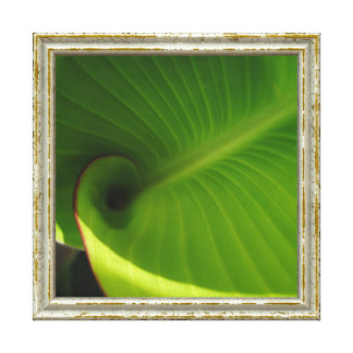 Lienzo Remolino verde de la hoja