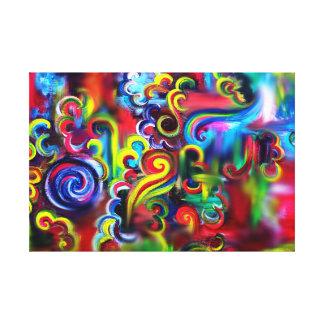 Lienzo Remolinos multicolores